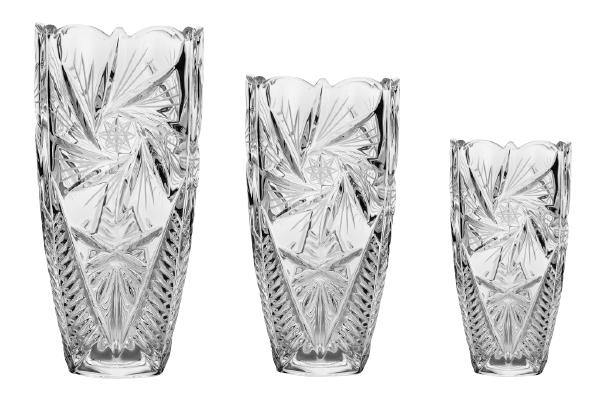 Pinwheel Vase Cut