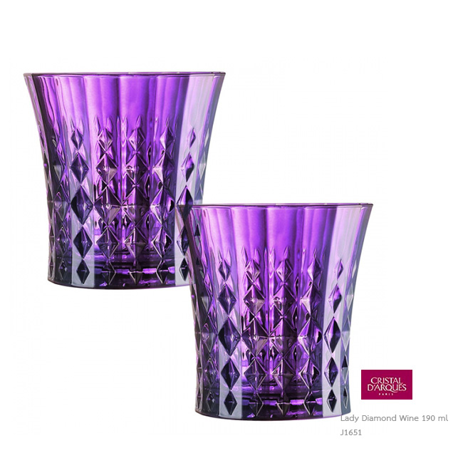 Lady Diamond Purple Whisky tumbler 270 ml