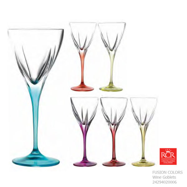 fusion colours wine goblet