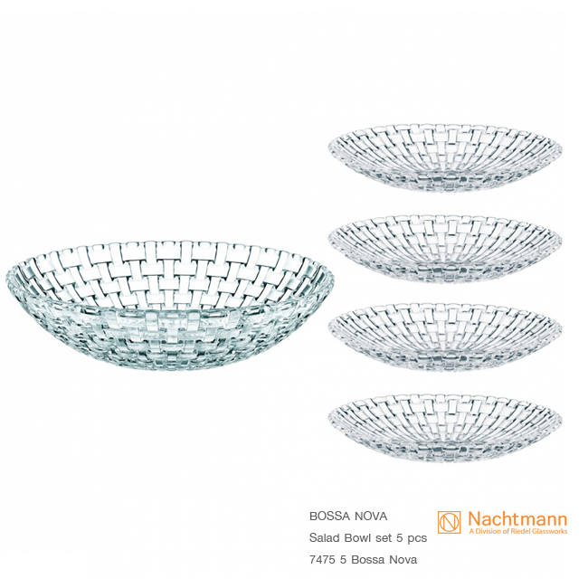 Bossa Nova Salad Bowl set of 5 pcs