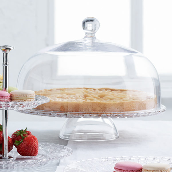 Footed Cake Plate with dome