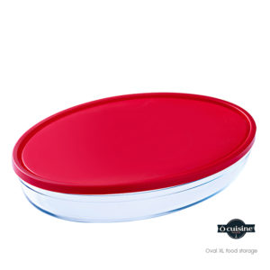 oval food storage with xl lid